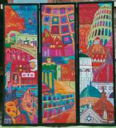 Italy - A tale of Three Cities - Each Panel: 53 x 142 cm.